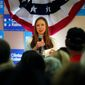 Chelsea Clinton campaigned for her mother, presidential candidate Hillary Clinton, and now says she has political ambitions of her own. (Associated Press)