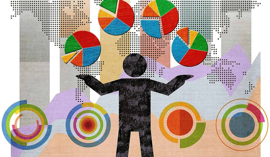 Juggling Mega-Data Illustration by Greg Groesch/The Washington Times