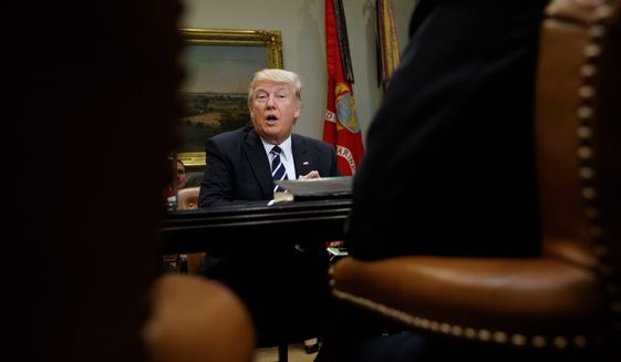 President Trump, whose extreme vetting program has been hit by unfavorable court decisions, might apply a workaround of halting visas to the listed countries, who refuse to take back criminals from the U.S. (Associated Press)