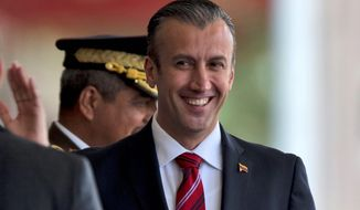 """Venezuelan Vice President Tareck El Aissami said the Trump administration's action represented """"miserable and defamatory aggression."""" (Associated Press)"""