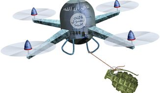 ISIS Drone Attacks Illustration by Greg Groesch/The Washington Times