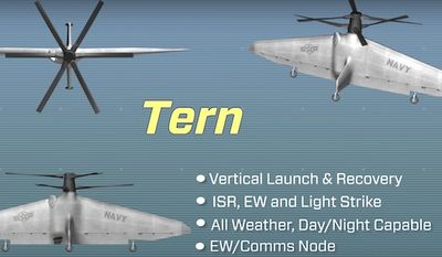 The Pentagon has started Phase III on development of its Tactically Exploited Reconnaissance Node (TERN).(YouTube, DARPA)