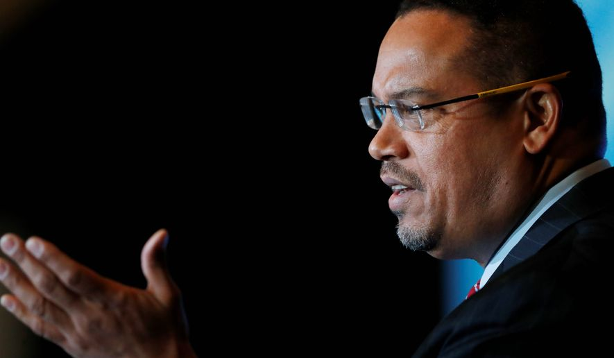 Rep. Keith Ellison, who is seeking to be the new DNC chair, has asked activist supporters not to troll fellow nominee Tom Perez, whom Mr. Ellison calls a friend. (Associated Press)