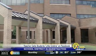 """A Florida public school district is investigating social media posts from Susan Creamer, a teacher at Merritt Brown Middle School in Panama City, who complained on an atheist group's Facebook page that she was being """"bullied"""" by her students. (WJHG)"""