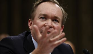 Budget Director-designate Rep. Mick Mulvaney, South Carolina Republican, testifies on Capitol Hill in Washington at his confirmation hearing before the Senate Budget Committee on Jan. 24, 2017. (Associated Press) **FILE**