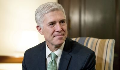 Supreme Court Justice nominee Judge Neil Gorsuch listed two religious liberty rulings among his top 10 on the 10th U.S. Circuit Court of Appeals and was quoted by Justice Sonia Sotomayor in a 2015 opinion.(Associated Press)
