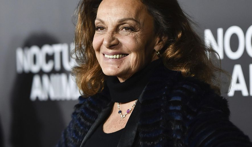 """FILE - In this Thursday, Nov. 17, 2016 file photo, Diane von Furstenberg attends the premiere of """"Nocturnal Animals"""" at the Paris Theatre in New York. On Friday, Feb. 17, 2017, the day after Fashion Week shows concluded in New York, W magazine released a video featuring designers, models, photographers and industry activists and insiders who are, themselves, immigrants, including von Furstenberg. (Photo by Evan Agostini/Invision/AP)"""