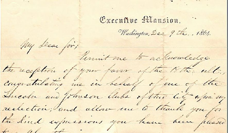 a long lost newly discovered letter written by abraham lincoln amid the civil war