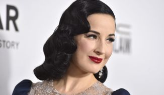 """Dita Von Teese said of her """"The Art of the Teese"""" show, """"I could control the entire environment and create this goddesslike persona in burlesque."""" (Associated Press)"""