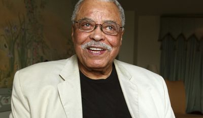 """FILE - In this Jan. 7, 2013, file photo, actor James Earl Jones poses for photos in Sydney, Australia. Jones and Donald Glover are lending their voices to Disney's upcoming remake of """"The Lion King."""" Director Jon Favreau announced Friday, Feb. 17, 2017, the casting of the two men as voice actors. Glover, star and creator of television's """"Atlanta,"""" will portray the adult Simba. Jones reprises the role of Simba's father, Mufasa, which he voiced in the 1994 animated film. (AP Photo/Rick Rycroft, File)"""