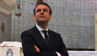 French presidential candidate Emmanuel Macron has created a center-left party in a bid to shake up what he views as a hyperideological political culture. (Associated Press)