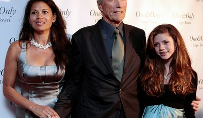Clint Eastwood became a father again for the seventh time with daughter Morgan in 1996