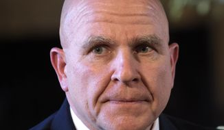 Army Lt. Gen. H.R. McMaster listens as President Donald Trump makes the announcement at Trump's Mar-a-Lago estate in Palm Beach, Fla., Monday, Feb. 20, 2017. McMaster will be the new national security adviser. (AP Photo/Susan Walsh)