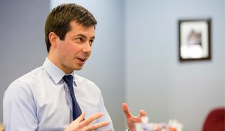 """Pete Buttigieg, the mayor of South Bend, Indiana, has the type of identity that can appeal to Democrats, but the candidate for the Democratic National Committee is warning about the party's """"salad bar problem"""" involving identity politics. (Associated Press)"""