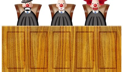 Illustration on the 9th Circuit court by Alexander Hunter/The Washington Times