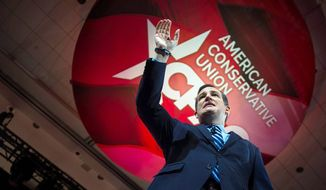 Sen. Ted Cruz prepares to face a huge crowd during a previous CPAC appearance; the event typically draws some 13,000 people. (AP Photo)