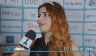 The Iranian national chess team has banned grand master Dorsa Derakhshani for not wearing a hijab during a recent competition, as well as her younger brother, Borna, for playing against an Israeli opponent. (Tradewise Gibraltar Chess Festival)
