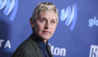 Ellen DeGeneres arrives at the 26th Annual GLAAD Media Awards held at the Beverly Hilton Hotel, in Beverly Hills, Calif., in this March 21, 2015, file photo. On the Feb. 23, 2017, episode of her chat show, DeGeneres handed out four-year scholarships paid for by Wal-Mart to the entire senior class of a New York City charter school. (Photo by Richard Shotwell/Invision/AP, File)