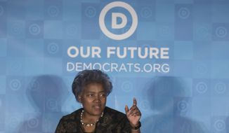 Democratic National Committee Chair Donna Brazile speaks during the general session of the Democratic National Committee winter meeting in Atlanta, Saturday, Feb. 25, 2017. (AP Photo/Branden Camp)
