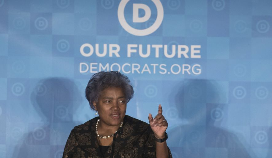 Donna Brazile speaks during the general session of the Democratic National Committee winter meeting in Atlanta, Saturday, Feb. 25, 2017. (AP Photo/Branden Camp) ** FILE **