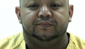 This photo released by Pennsylvania State Police, shows Oscar Hernandez. Police say a missing 6-year-old Connecticut girl has been found in Pennsylvania after a high-speed chase and crash involving a car driven by her father, Oscar Hernandez, who's suspected in her mother's killing. Pennsylvania state police say Aylin Sofia Hernandez suffered minor injuries in the crash Friday, Feb. 24, 2017. Federal immigration officials say her father is a citizen of El Salvador who was deported in 2013 and he's in custody.