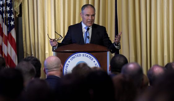 Scott Pruitt, Oklahoma's former attorney general and the newly installed head of the EPA, has become the top target for environmentalists, who argue that he is too closely tied to the oil and gas industry. (Associated Press/File)