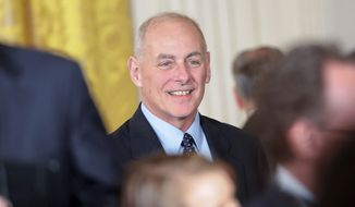 Homeland Security Secretary John F. Kelly's aides conveyed that the draft leaked to The Associated Press needed more work, according to a source. (Associated Press)