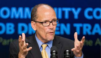 Democratic National Committee Chairman Thomas E. Perez made clear that candidates running under the Democratic banner must support abortion rights. (Associated Press/File)