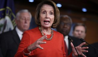 """The word on the tongues of Democrats like Nancy Pelosi has been """"impeachment"""" during the still-young Trump administration. (Associated Press)"""
