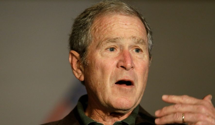 Former President George W. Bush has jumped from 36th to 33rd place among presidential historians, according to the most recent C-SPAN poll. (Associated Press)