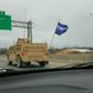 """U.S. Navy SEALs have been punished for flying a """"Trump"""" flag in a convoy driving through Louisville, Kentucky, on Jan. 29. (Fox News screenshot)"""