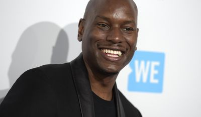 FILE - In this April 7, 2016, file photo, Tyrese Gibson arrives at WE Day California at the Forum in Inglewood, Calif. Gibson revealed on Feb. 28, 2017, that he was married on Valentine's Day. (Photo by Richard Shotwell/Invision/AP, File)