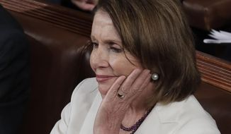 House Minority Leader Nancy Pelosi and other Democrats in Congress are sitting around while Republicans try to clean up the Obamacare mess. (Associated Press/File)