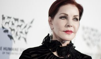 """FILE - In this May 7, 2016 file photo, Priscilla Presley attends """"To the Rescue: Saving Animal Lives"""" Gala and Fundraiser held at Paramount Pictures Studio in Los Angeles. A $45 million entertainment complex featuring exhibits and restaurants focused on the life and career of Elvis Presley is scheduled to open at Graceland in Memphis. Priscilla Presley, the former wife of the late rock 'n' roll icon, is scheduled to appear at the grand opening of the complex in Tennessee on Thursday, March 2, 2017.(Photo by Richard Shotwell/Invision/AP, File)"""