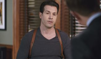 """In this image released by NBC, Jon Seda portrays Antonio Dawson in a scene from the new Dick Wolf series, """"Chicago Justice.""""  (Parrish Lewis/NBC via AP)"""