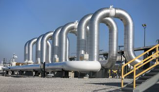 The Keystone XL oil pipeline won't use American steel in its construction, despite what President Trump says. White House spokeswoman Sarah Huckabee Sanders said Friday that's because of language in a presidential directive Mr. Trump issued in January. (Associated Press/File)