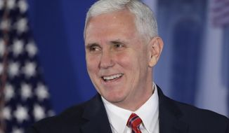 Vice President Mike Pence speaks at the Republican congressional retreat in Philadelphia on Jan. 26, 2017. (Associated Press) **FILE**