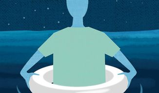 Illustration about insurance pools by Linas Garsys/The Washington Times