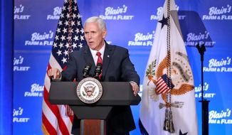"""Vice President Mike Pence told Wisconsans that the Affordable Care Act could start to be dismantled """"in a matter of days."""" Joining him Friday were Health and Human Services Secretary Tom Price and House Speaker Paul D. Ryan. (Associated Press)"""