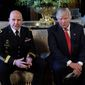 As a National Security Adviser H.R. McMaster said the Trump administration has two goals in Syria: defeating the Islamic State group and removing President Bashar Assad from power. (Associated Press/File)