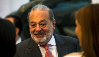 Carlos Slim may not be the world's wealthiest man anymore, but he has gained popularity by criticizing President Trump. The telecommunications mogul said it's time for Mexicans to chart their own economic future without the U.S. (Associated Press)