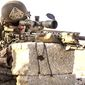 A scout sniper with the U.S. Marine Corps trains in Rabkut, Oman, on Feb. 19, 2017. (U.S. Marine Corps) ** FILE **