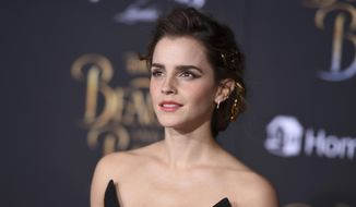 """In this March 2, 2017, file photo, Emma Watson arrives at the world premiere of """"Beauty and the Beast"""" at the El Capitan Theatre in Los Angeles. Watson told The Associated Press on March 4, 2017, that critics who claimed her recent photoshoot for Vanity Fair betrayed her feminist ideals have """"a fundamental and complete misunderstanding of what feminism is."""" (Photo by Jordan Strauss/Invision/AP, File)"""