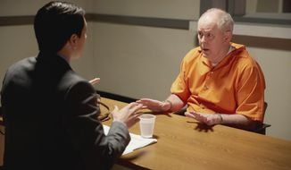 """In this image released by NBC, Nicholas D'Agosto, left, and John Lithgow appear in a scene from """"Trial & Error."""" The series premieres with back-to-back episodes Tuesday at 9 p.m. EST. (Tyler Golden/NBC via AP)"""