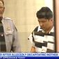 Oliver Mauricio Funes-Machada, 18, was charged with first-degree murder in a Zebulon County, North Carolina, courtroom on Tuesday, March 7, 2017. (WNCN CBS North Carolina screenshot)