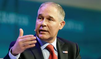 """EPA Administrator Scott Pruitt said Thursday on CNBC's """"Squawk Box"""" program that he does not believe that carbon dioxide is a primary contributor to global warming. (Associated Press)"""