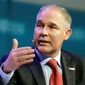 "EPA Administrator Scott Pruitt said Thursday on CNBC's ""Squawk Box"" program that he does not believe that carbon dioxide is a primary contributor to global warming. (Associated Press)"