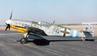 A Messerschmitt Bf 109G-10 sits on a runway at the National Museum of the United States Air Force in Dayton, Ohio. (U.S. Air Force) ** FILE **