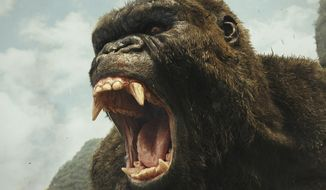 "This image released by Warner Bros. Pictures shows a scene from, ""Kong: Skull Island."" (Warner Bros. Pictures via AP)"