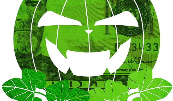 The Great Pumpkin Rises Illustration by Greg Groesch/The Washington Times